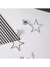 Exaggerated Hollow-Out Pentagonal Star Eardrop