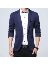Mens Solid Casual One Button Cardigans