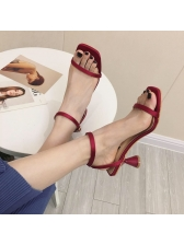 Simple Design Satin 2 Inch Women Sandals
