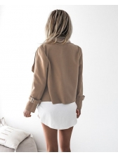 European Style Lapel Solid Cardigan Coat