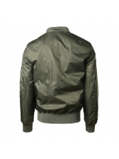 Solid Stand Collar Zipper Up Bomber Jackets