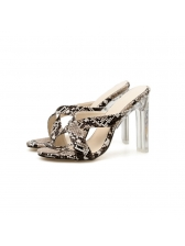 Sexy Cross Crystal Heel Ladies Slippers