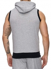 Casual Solid Zipper Up Sleeveless Coats For Mens