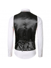 Mens Night Club Leaves Foil Printing Sleeveless Blazers