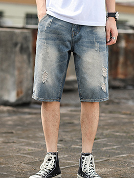 Leisure Loose Fitting Denim Short Pants