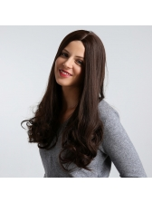 Middle Part Long Wave Synthetic Wig For Ladies