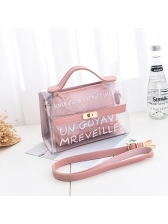 Fashionable Transparent Letter 2 Piece Handbag