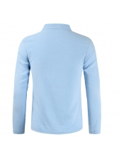 Casual V Neck Solid Color T Shirt