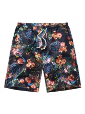 Casual Printing Pockets Half Length Shorts