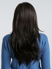 Fashion Highlight Long Wave Side Bang Daily Synthetic Wig