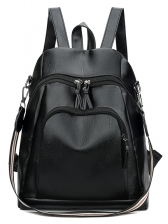 Vintage Style Pockets Double-Zip Travel Backpack