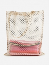 Hot Sale Polka Dots Perspective Gauze Tote Bag