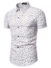 Casual Floral Short Sleeves Shirt For Men