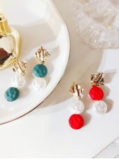 Chic Contrast Color Irregular Earrings