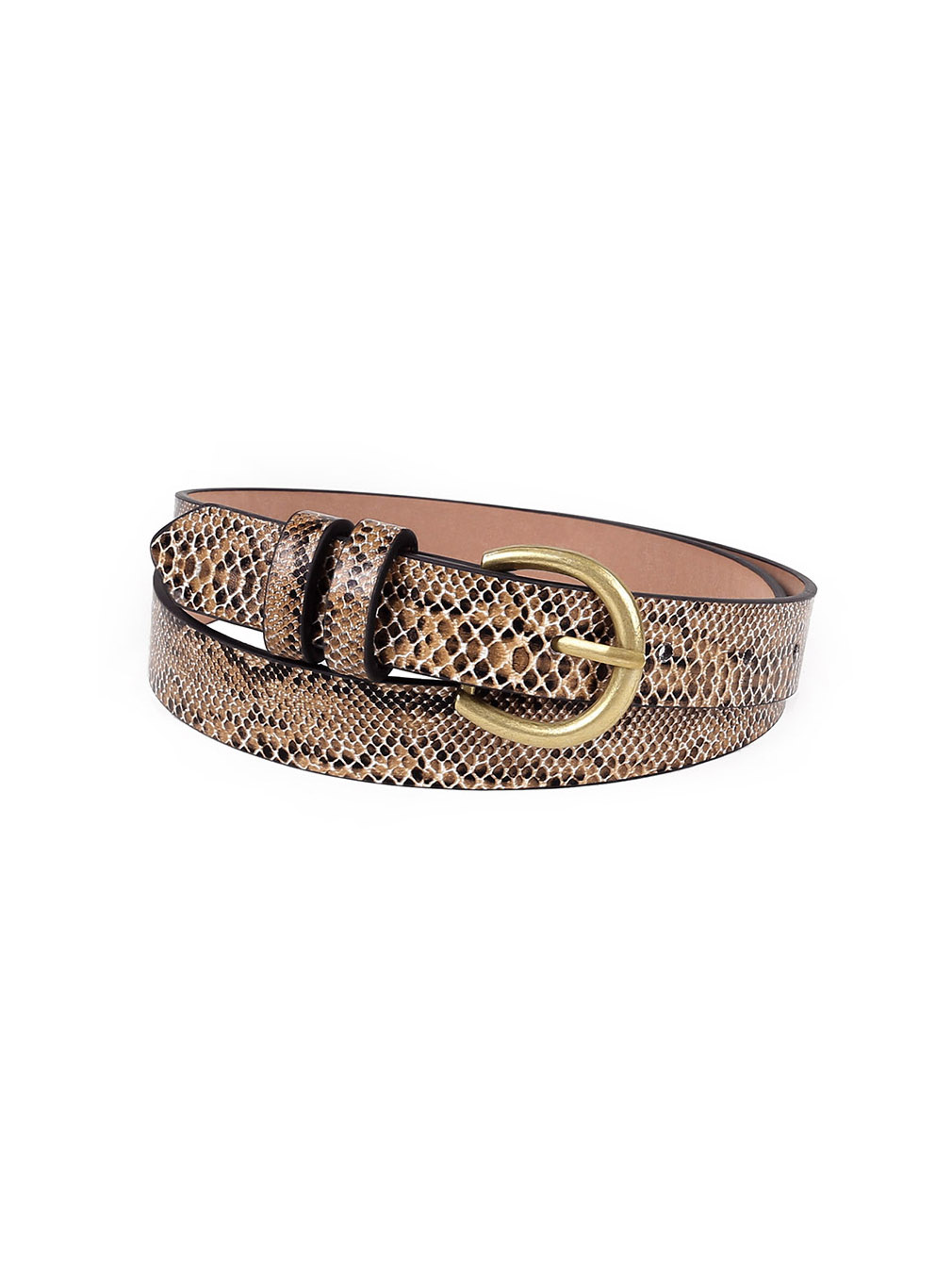 Stylish Serpentine Metal Buckle Women Belt