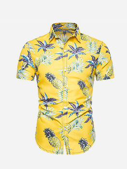 Summer Hawaii Printed Short Sleeve Shirt