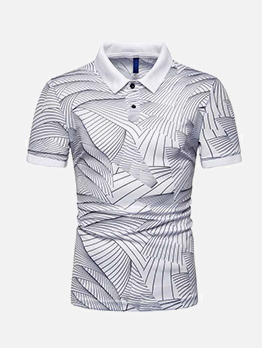 Hot Sale Wave Printed Short Sleeve Shirt