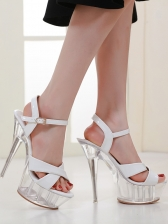 New Arrival Crystal Ladies Patent Leather Sandals