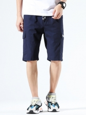 Casual Solid Easy Matching Short Pants