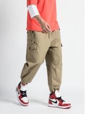 Stylish Pockets Straight Cargo Pants For Men