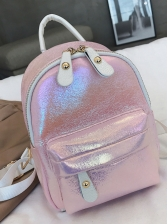 Easy Matching Solid Mini Backpack For Women