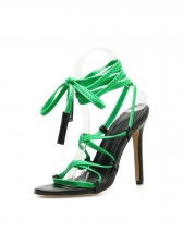 Sexy Crossed Strap Lace Up Sandals