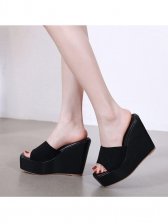 Simple Design Solid Color Wedges