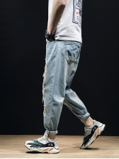 Fashion Loose Ripped Jeans For Men