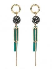 Vintage Diamonds Ball Geometric Tassel Earrings