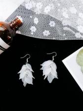 New Arrival Frosted Petal Earrings For Women