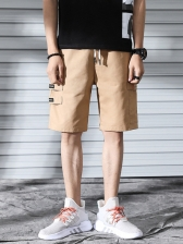 Casual Solid Cargo Short Pants