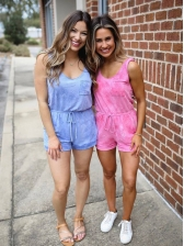 Hot Sale Solid Short Rompers For Ladies