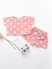 Summer Crew Neck Flower Printed Girls Outfits