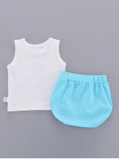 Contrast Color Printed Unisex Kids Outfits