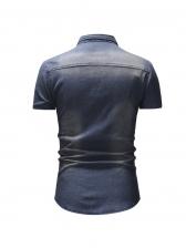 Hot Sale Short Sleeve Denim Shirt