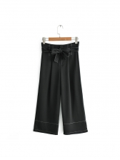 Euro Bow Straight Pants For Women