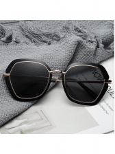 Chic Polygon Large Frame Metal Splicing Outdoor Sunglasses