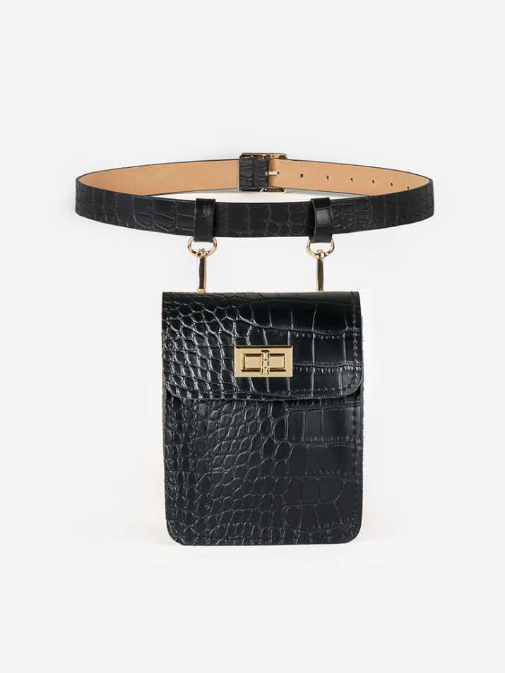 New Style Stone Pattern Belt Bumbag For Women