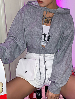 Cardigan Hollow Out Casual Hoodies For Women