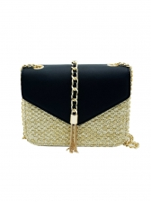 Summer Contrast Color Chain Shoulder Bag