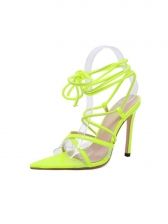 Stylish Pointed Toe Cross Lace Up Stiletto Sandals