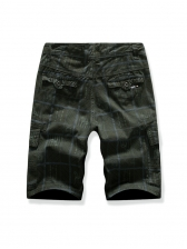 Casual Printed Multiple Pockets Half Pants For Men