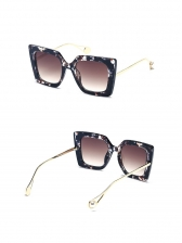 Fashion Solid Square Frame Sunglasses For Women