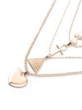 Stylish Heart Cross Shape Patchwork Necklaces