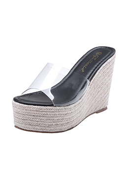 Casual PVC Perspective Ladies Wedges