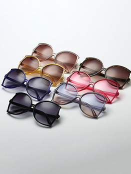Summer Large Frame Gradient Lens Sunglasses