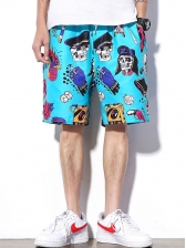 National Style Summer Printed Beach Mens Shorts