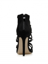 Roman Style Hollow Out High Heeled Ankle Boot