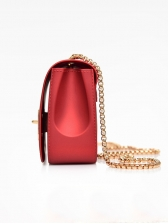 Letter Decor Twist Lock Crossbody Bag For Women
