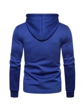 Letter Printed Fitted Pullover Hoodie For Men